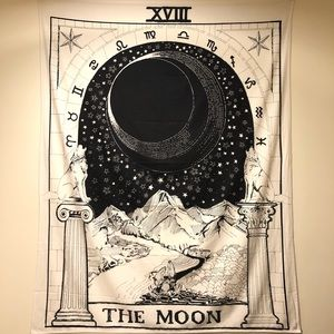 """Urban Outfitters """"Moon"""" Tapestry"""